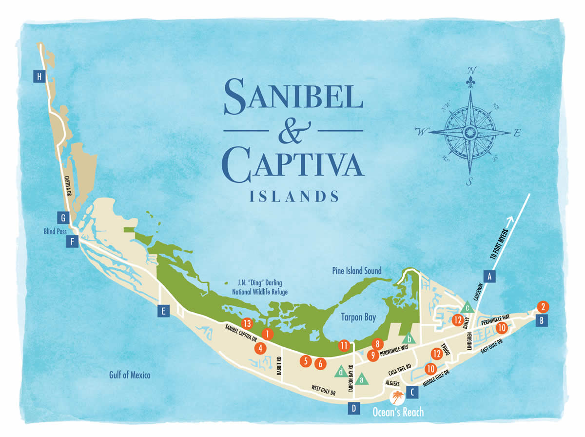 Sanibel Island Map To Guide You Around The Islands - Annabelle Island Florida Map