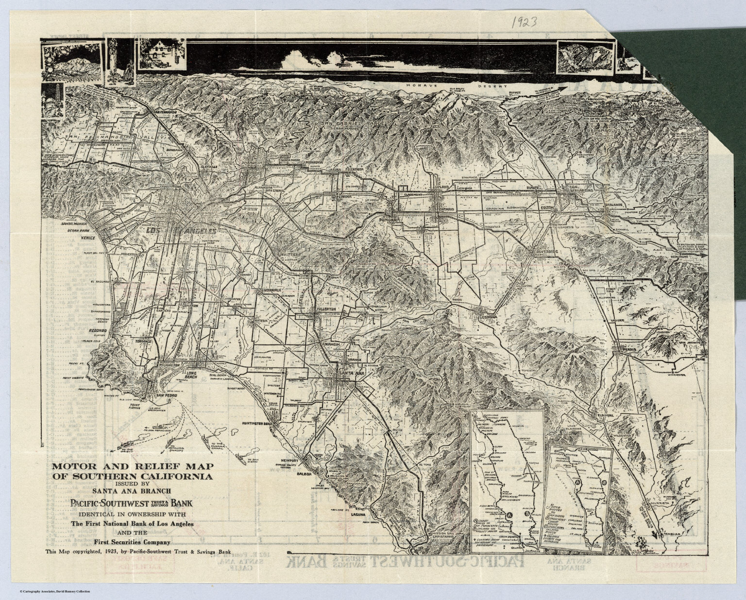 Santa Ana, California - David Rumsey Historical Map Collection - Relief Map Of Southern California