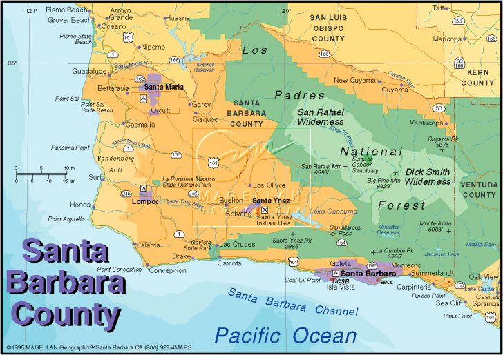 Map Of California Showing Santa Barbara
