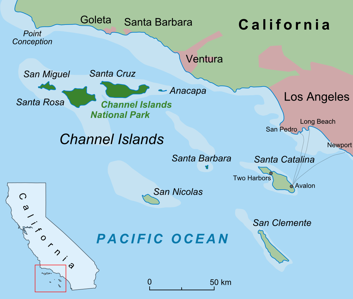Santa Barbara Island - Wikipedia - Map Of California Showing Santa Barbara