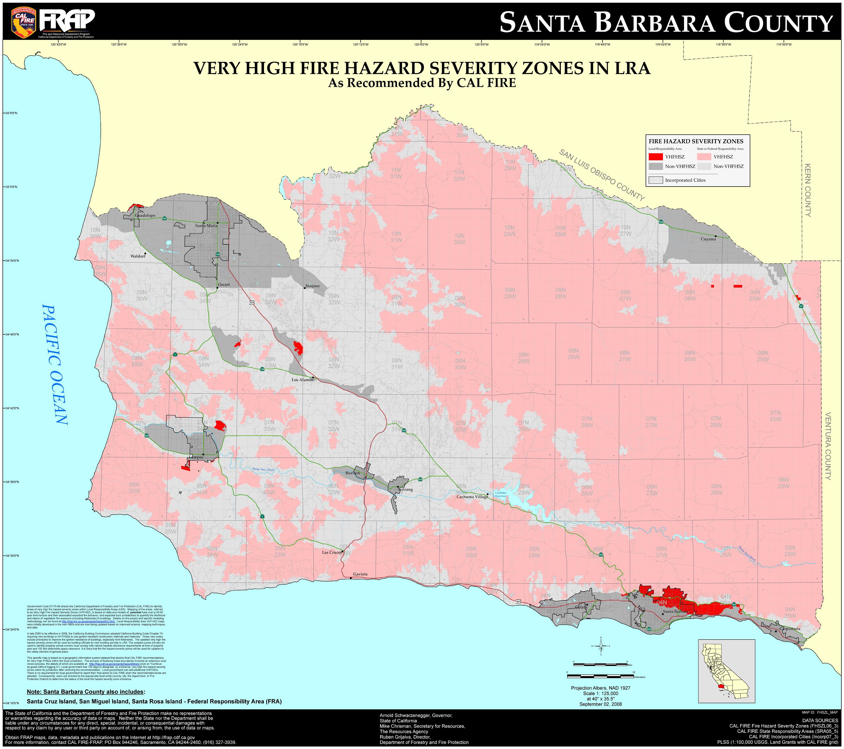 Santa Barbara On California Map - Klipy - Santa Barbara California Map
