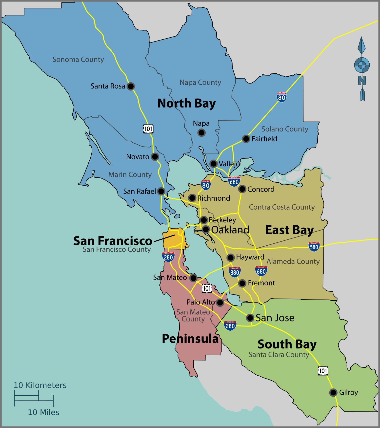 Santa Clara California Map Google Printable San Francisco Bay Area - Santa Clara California Map