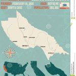Santa Cruz County Map In California. Stock Vector   Illustration Of   Santa Cruz California Map