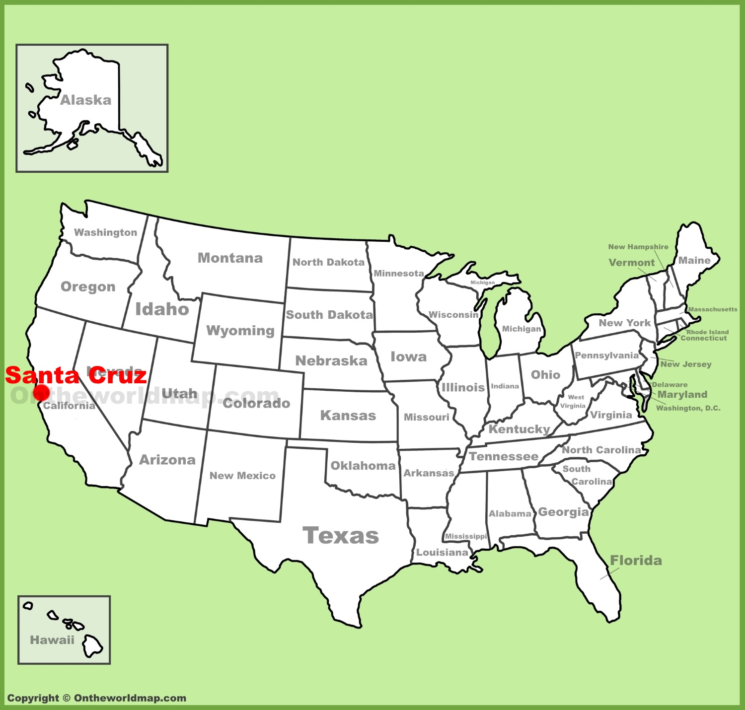 Santa Cruz Location On The U.s. Map - Where Is Santa Cruz California On The Map