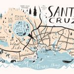 Santa Cruz Map   Libby Vanderploeg | ✚Happy Things | Pinterest   Where Is Santa Cruz California On The Map