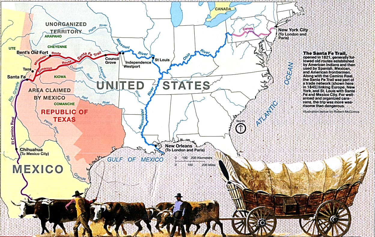 Santa Fe Trail - Wikipedia - Map Of Texas Showing Santa Fe