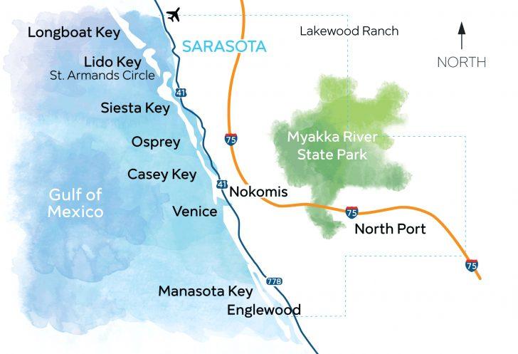 Manasota Key Florida Map