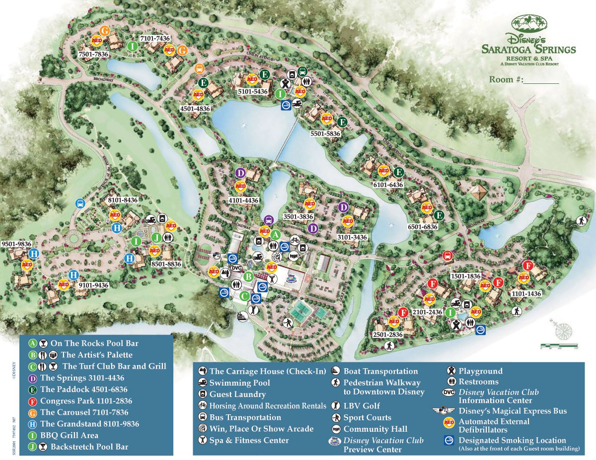 Saratoga Springs Resort Spa Map - Wdwinfo - Disney Resorts Florida Map