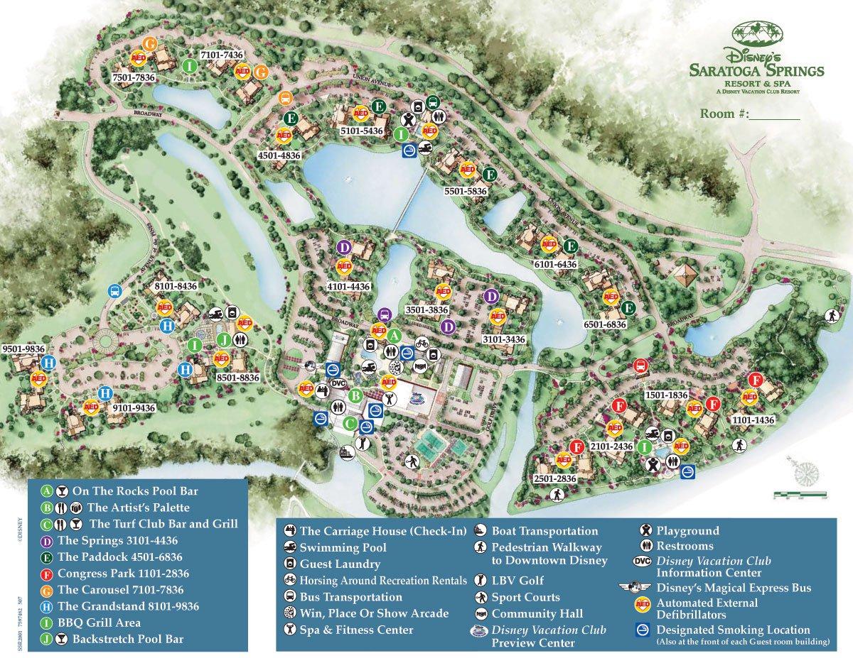 Saratoga Springs Resort Spa Map - Wdwinfo - Florida Resorts Map