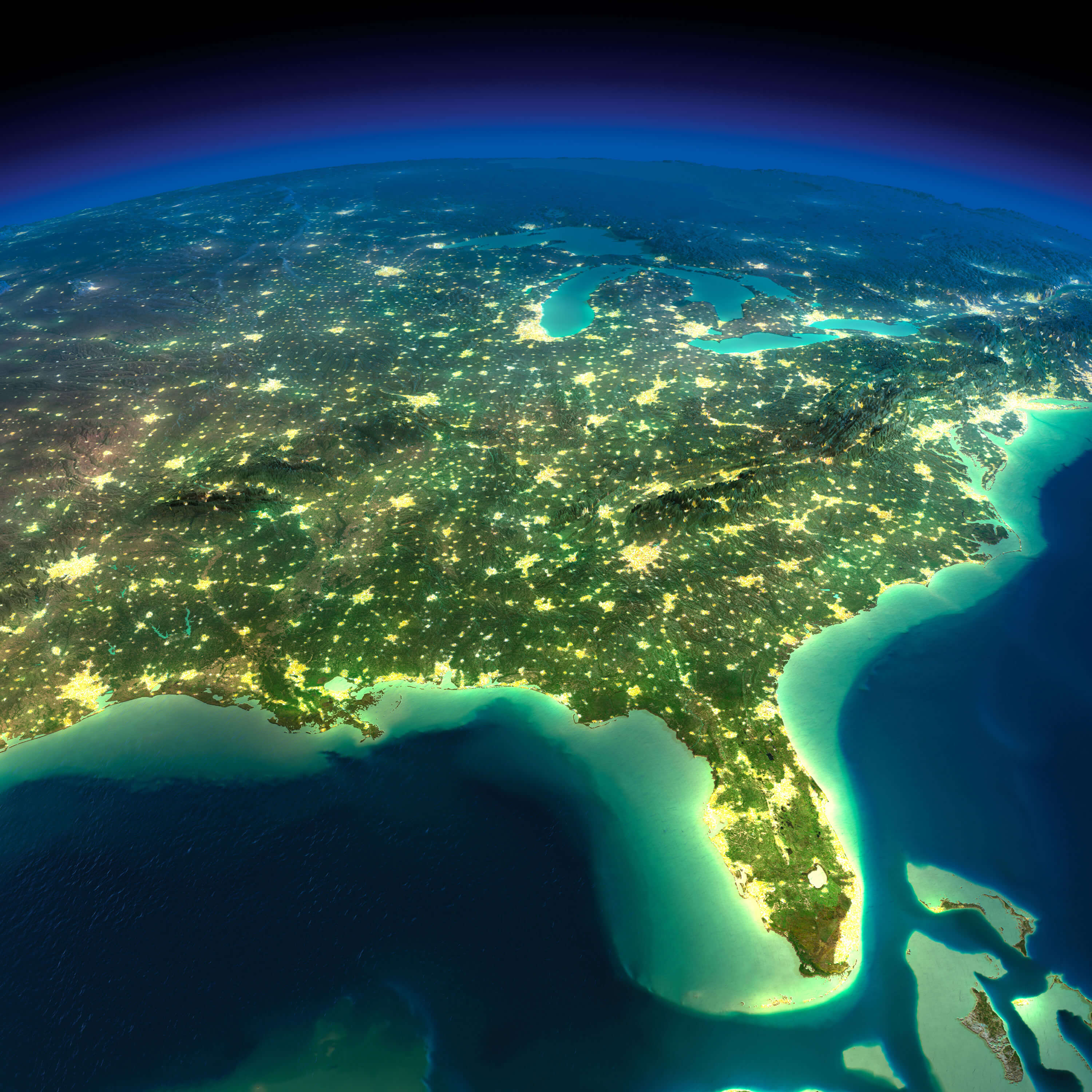 Satellite Maps Of Florida And Travel Information | Download Free - Satellite Map Of Florida