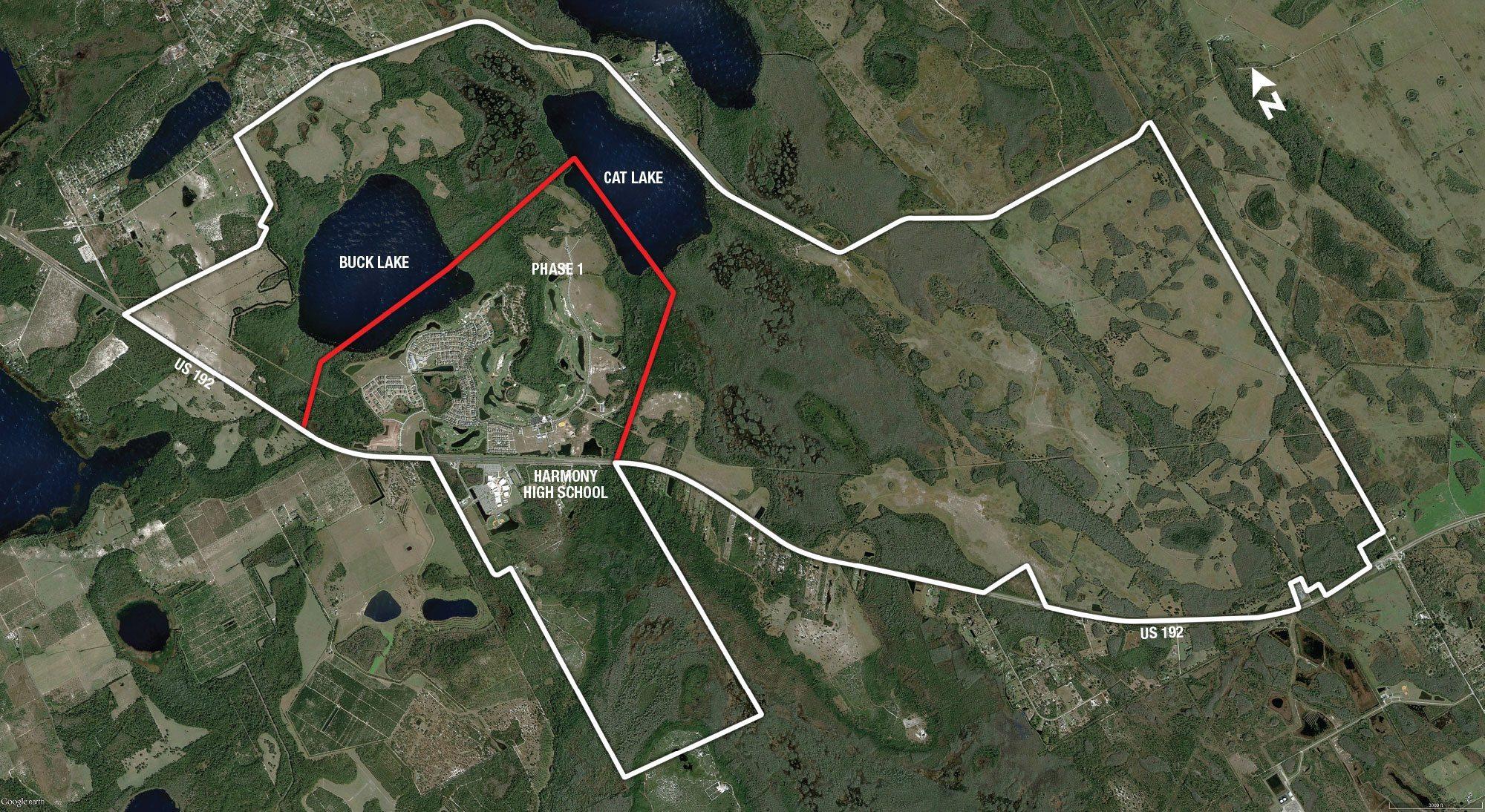 Satellite View - Harmony, Fl - Harmony Florida Map