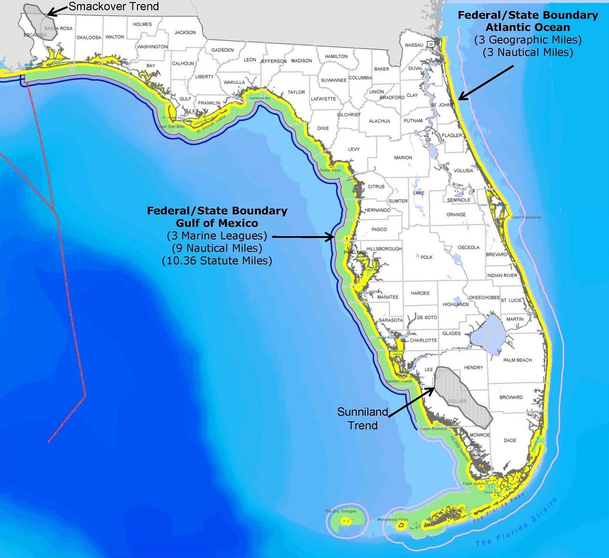 Save Our Shores! Florida - Florida Ocean Map