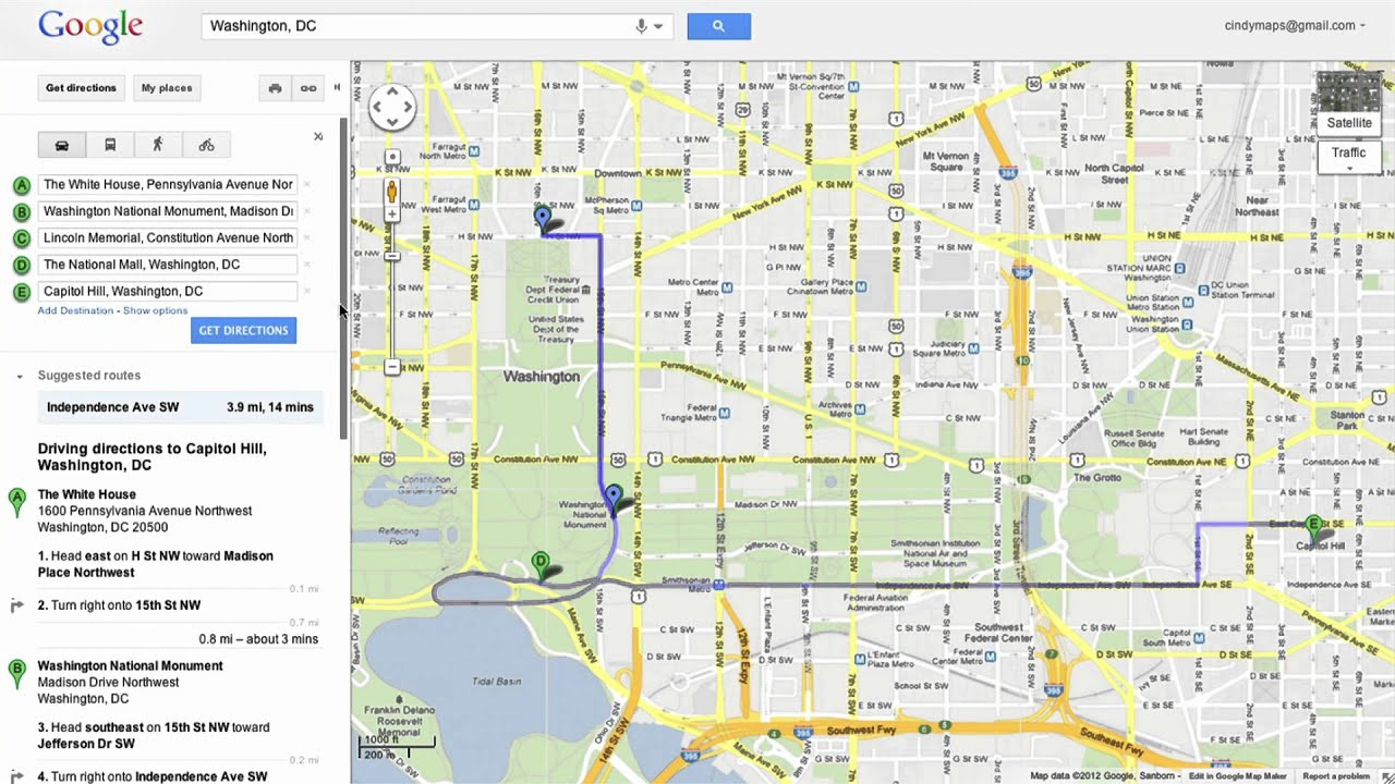 Saving Directions In Google Maps - Youtube - Free Printable Maps Driving Directions