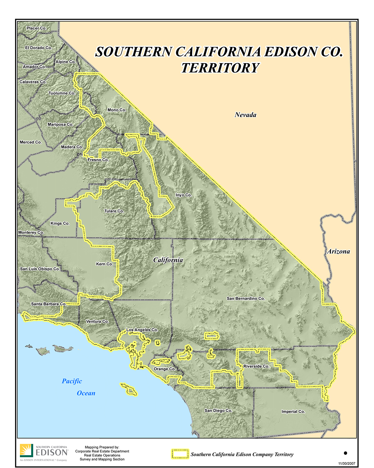 Sce Territory Map | Leadership | Who We Are | About Us | Home - Sce - California Territory Map