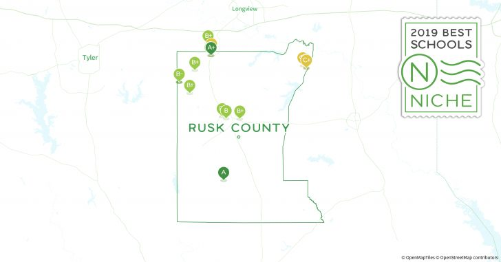 Rusk County Texas Map