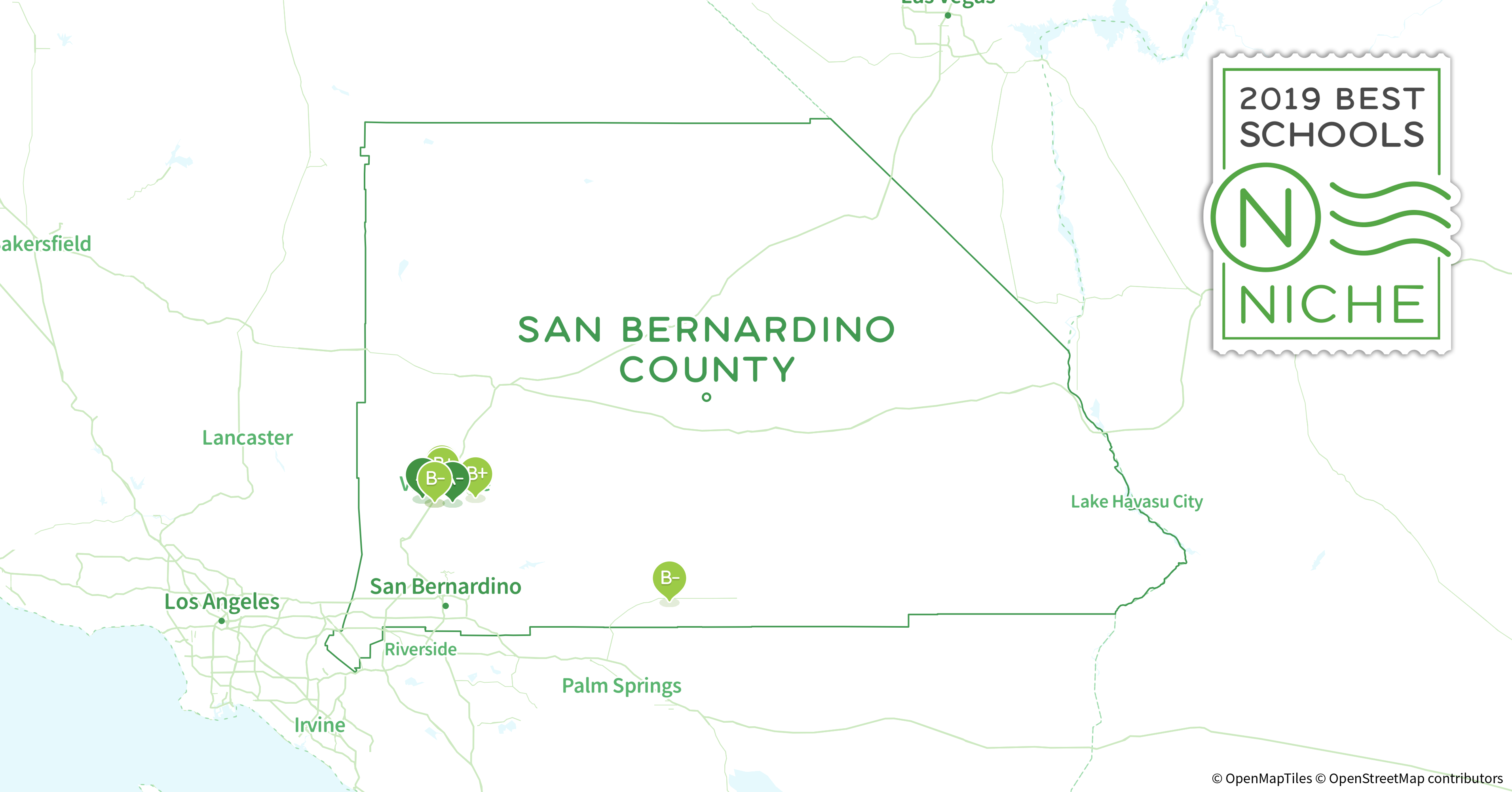 School Districts In San Bernardino County, Ca - Niche - Map Of San Bernardino County California