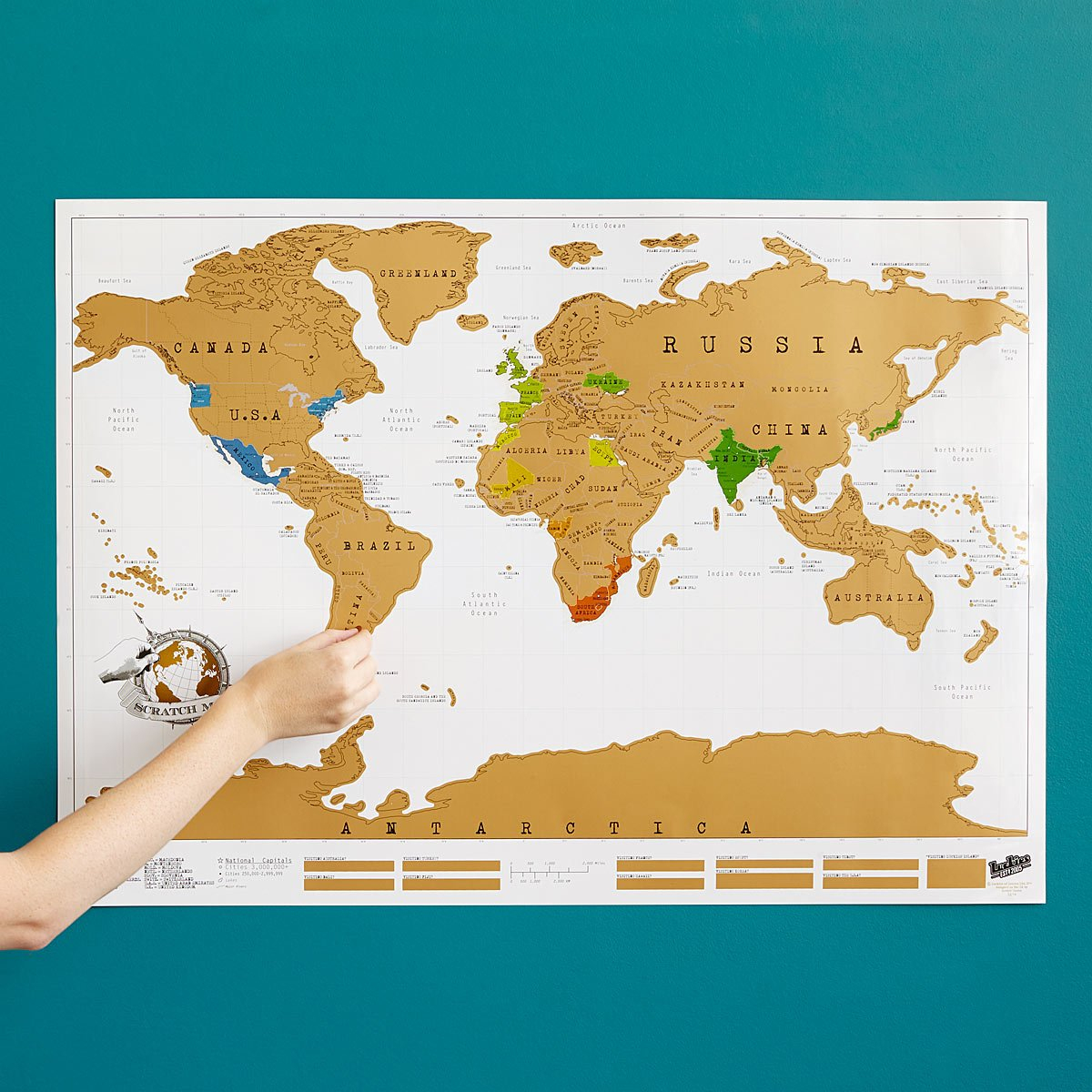 Scratch Map | Scratch Off World, World Poster | Uncommongoods - Texas Scratch Off Map