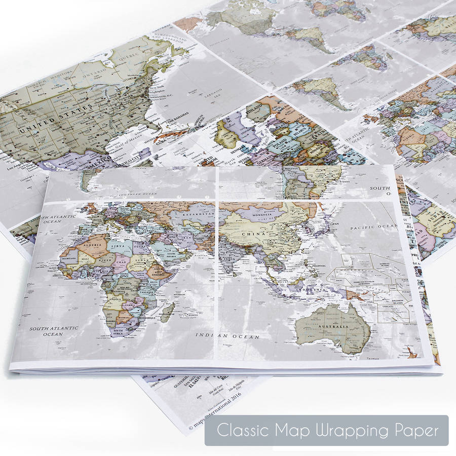 Scratch The World® Map Print With Coinmaps International - Printable Map Paper