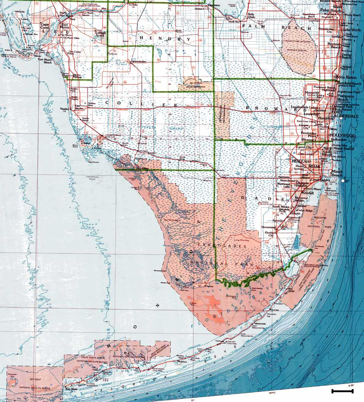 Se Maps - South Florida Topographic Map