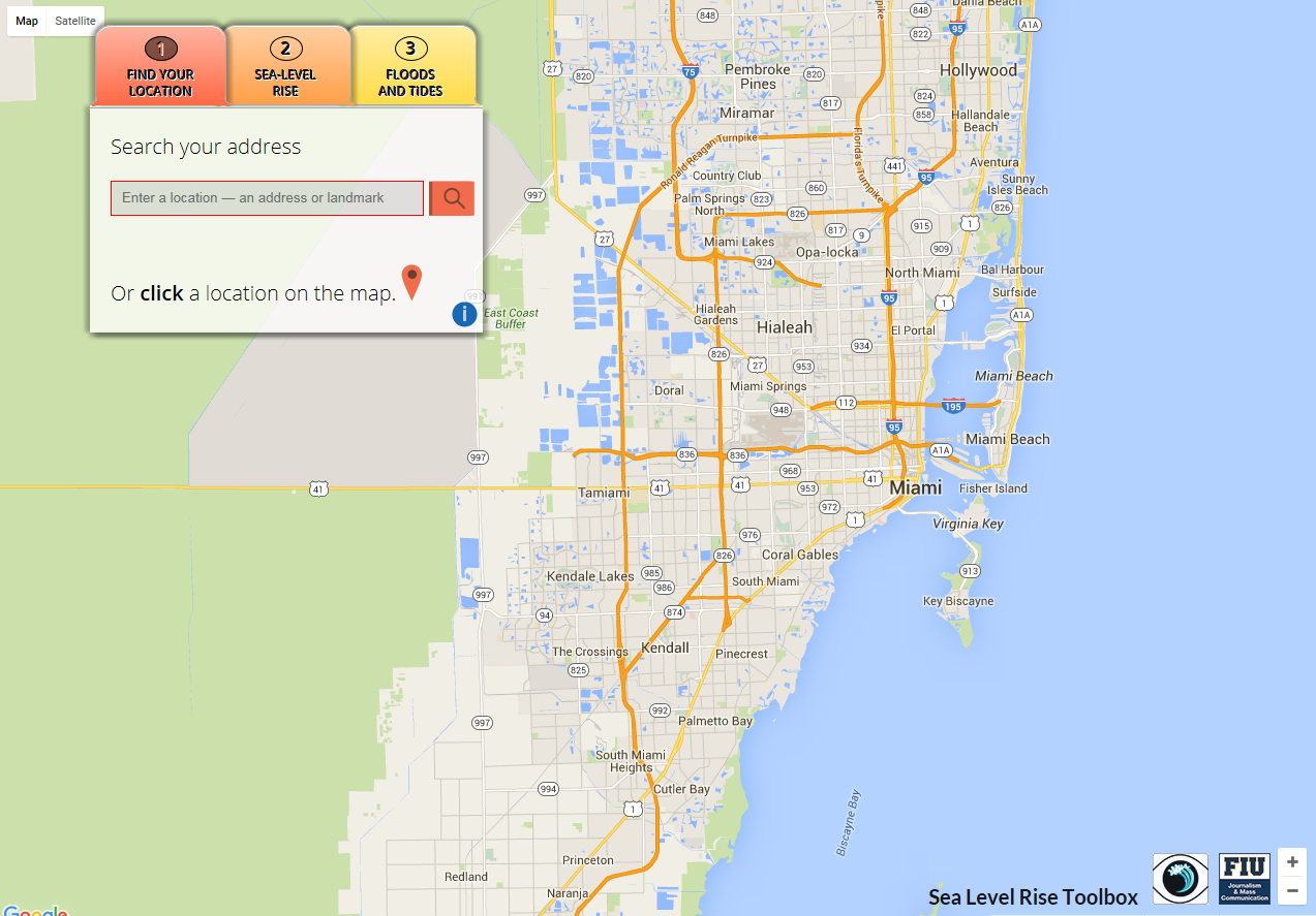 Sea Level Rise Toolbox | Gis Center At Fiu - Florida Sea Level Rise Map