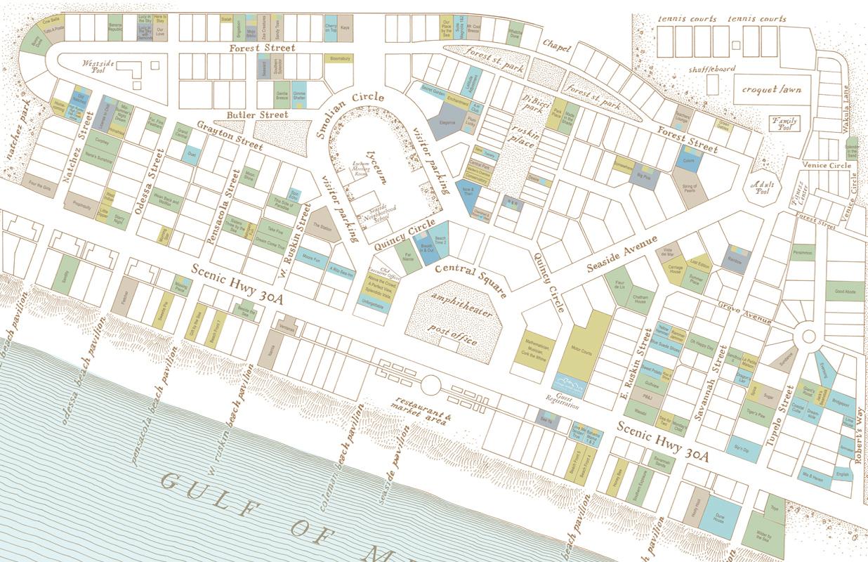 Seaside At 30, Midwest New Urbanism And Cnu21 - Nextstl - Seaside Florida Town Map