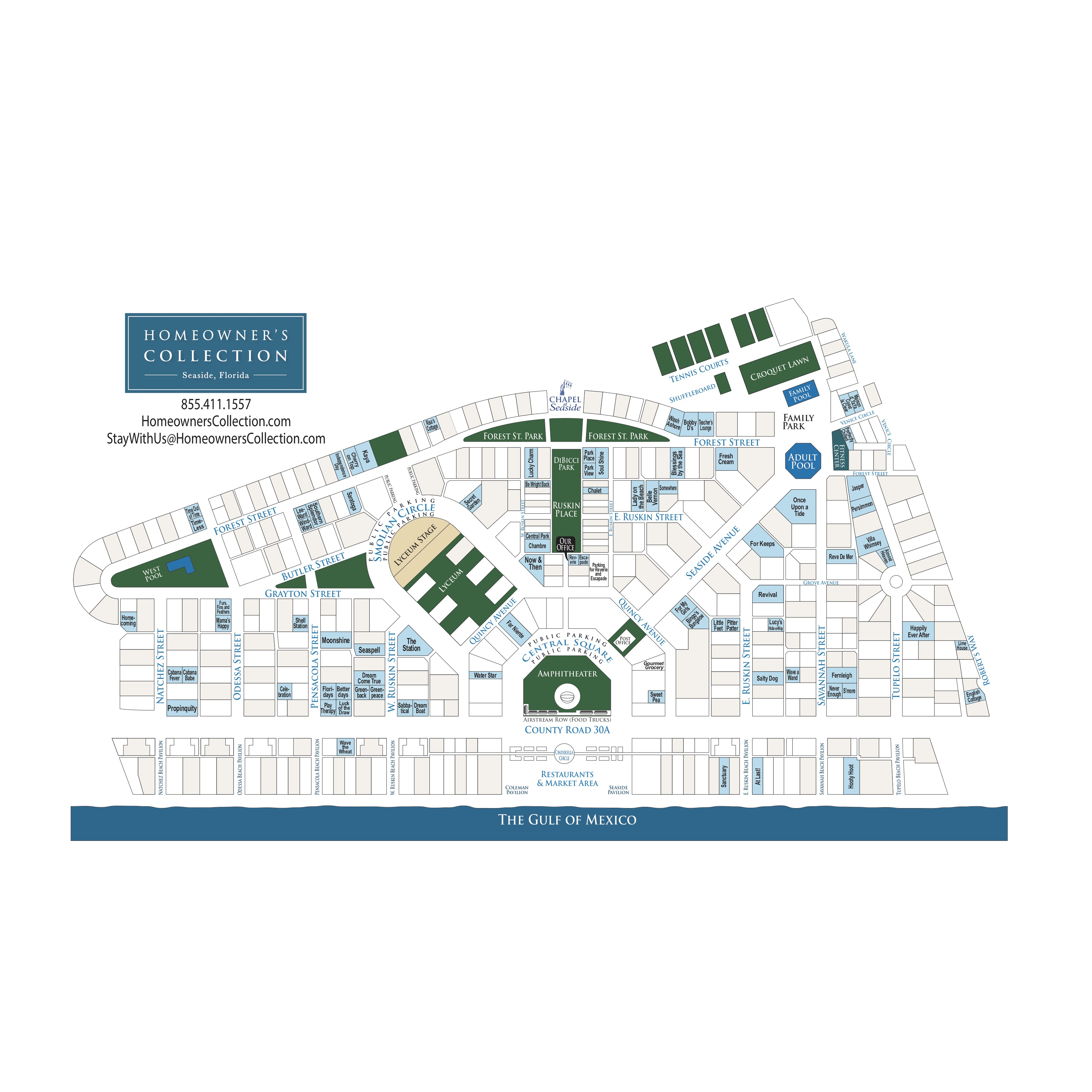 Seaside Florida Cottage Map - Where Is Seaside Florida On The Map