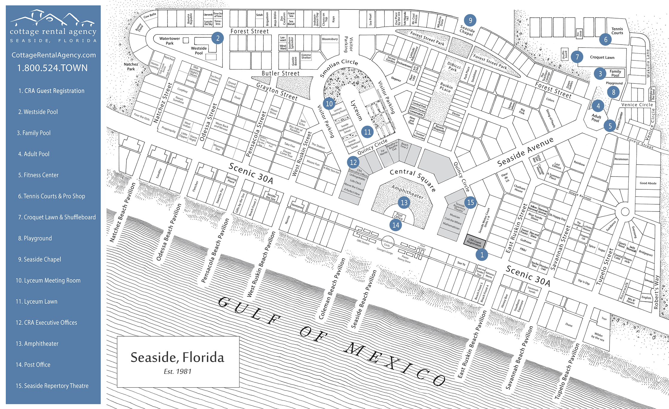 Seaside Florida Map - Click Properties On Map To View Details   Maps - Where Is Seaside Florida Located On Map