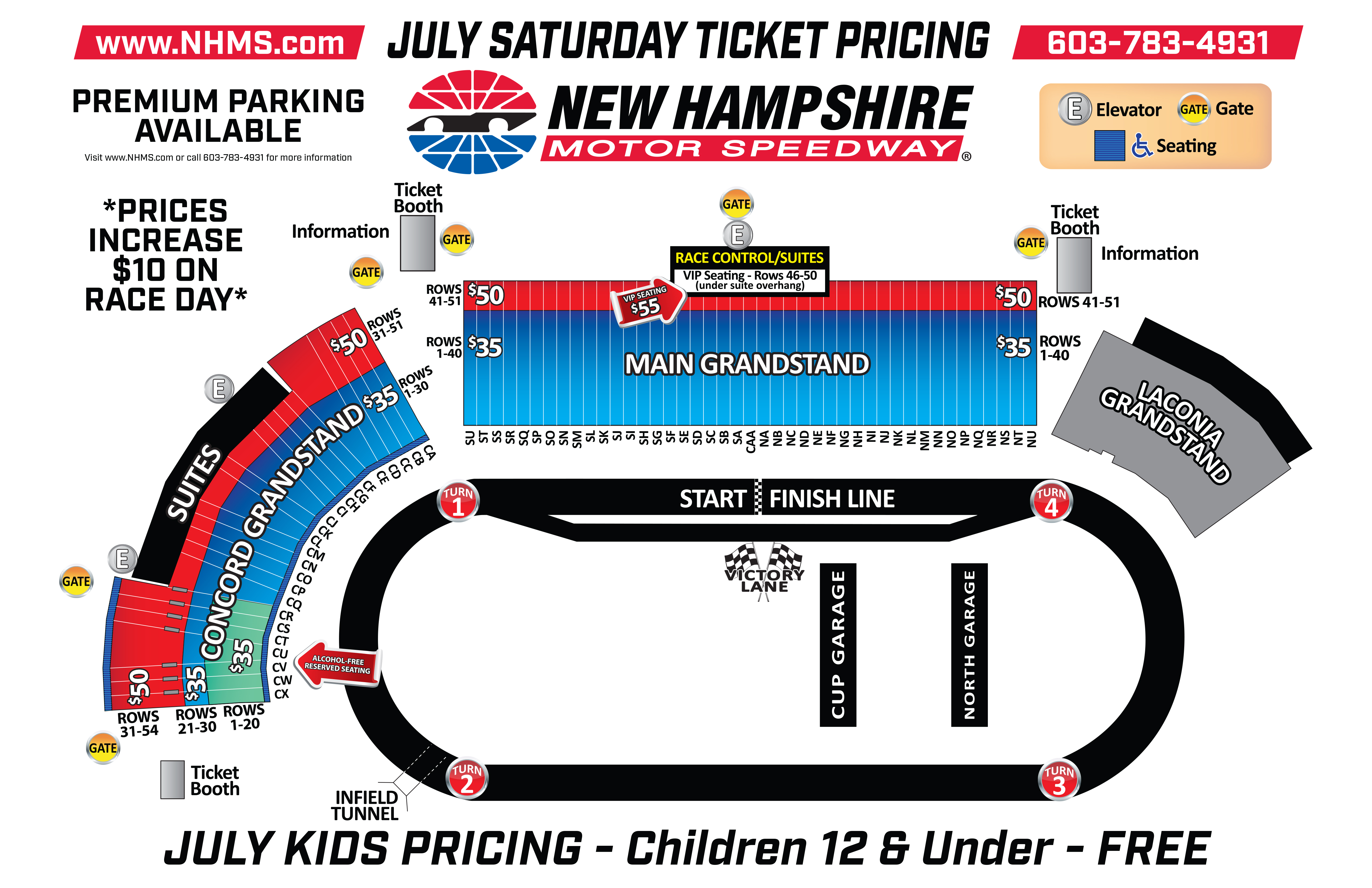 Seating Charts   Tickets   Nhms - Texas Motor Speedway Map