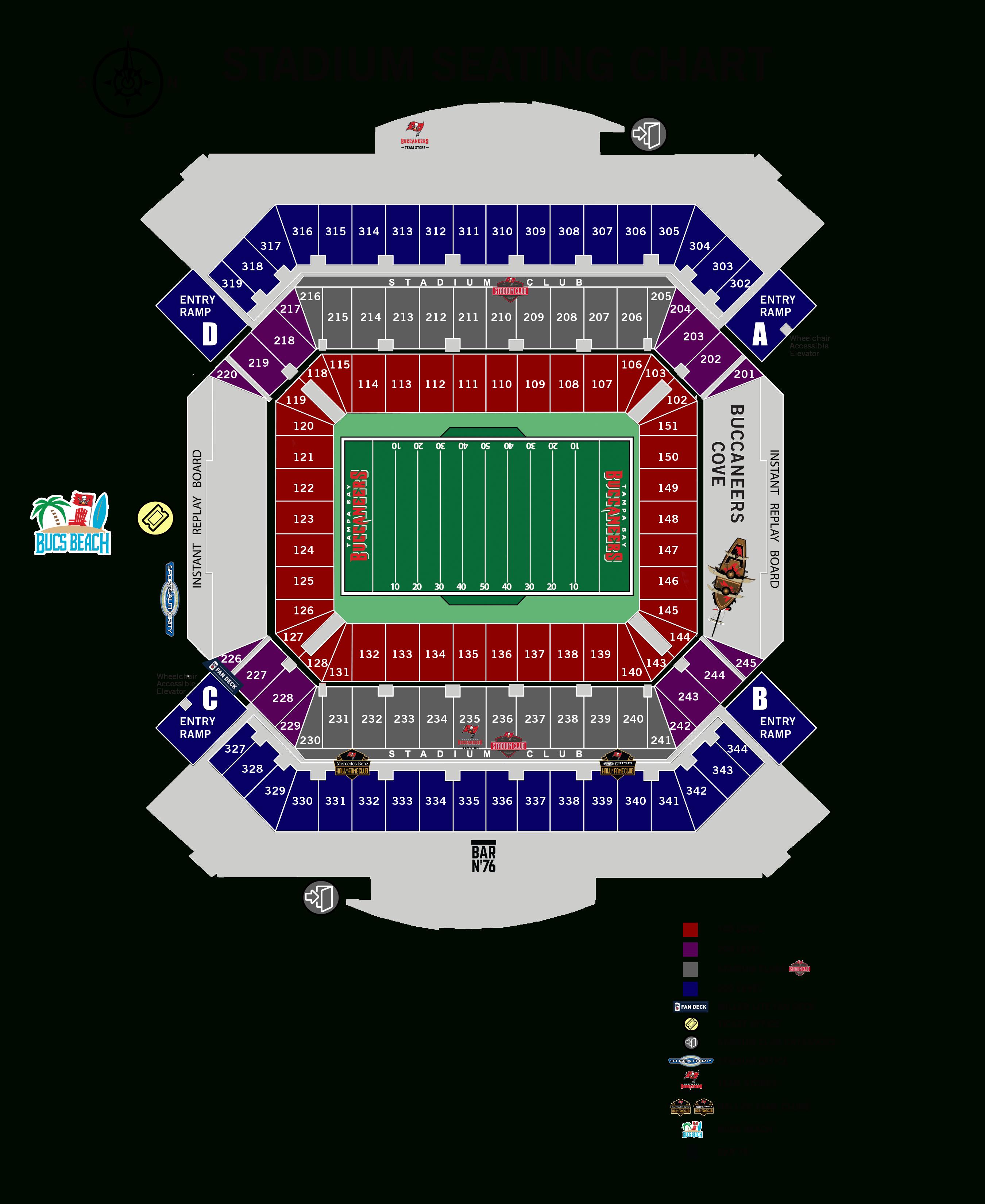 Seating Information – Raymond James Stadium - University Of Florida Football Stadium Map