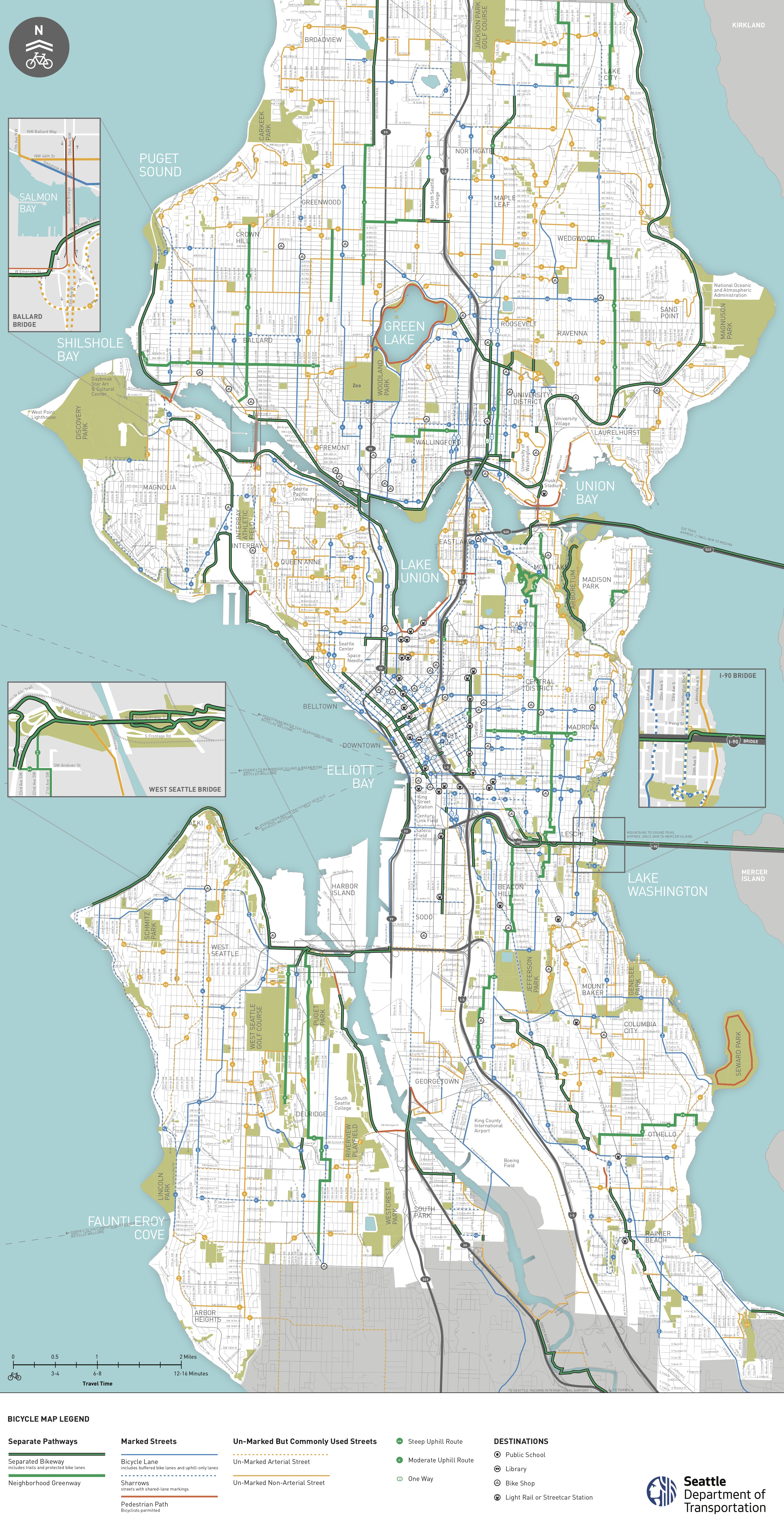 Seattle Area Bike Maps | Seattle Bike Blog - Printable Map Of Downtown Seattle