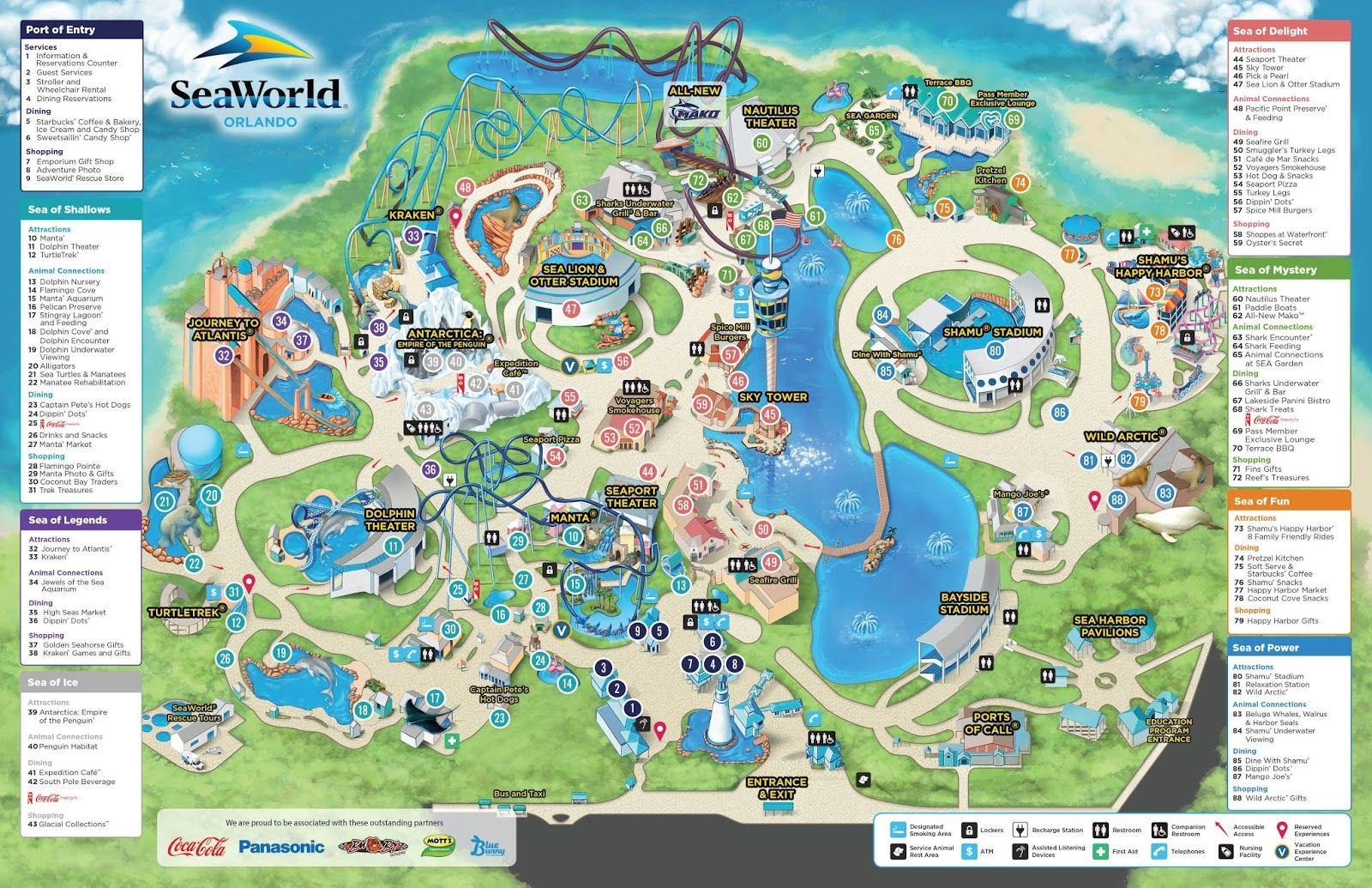 Seaworld Orlando Map - Map Of Seaworld (Florida - Usa) - Seaworld Orlando Map 2017 Printable