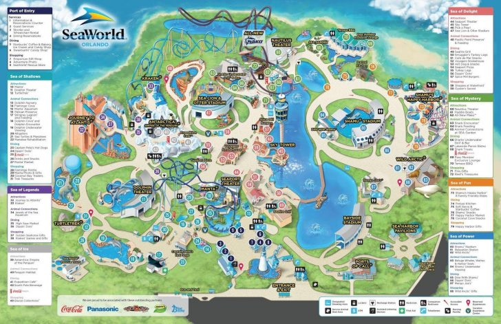 Seaworld San Antonio Printable Map
