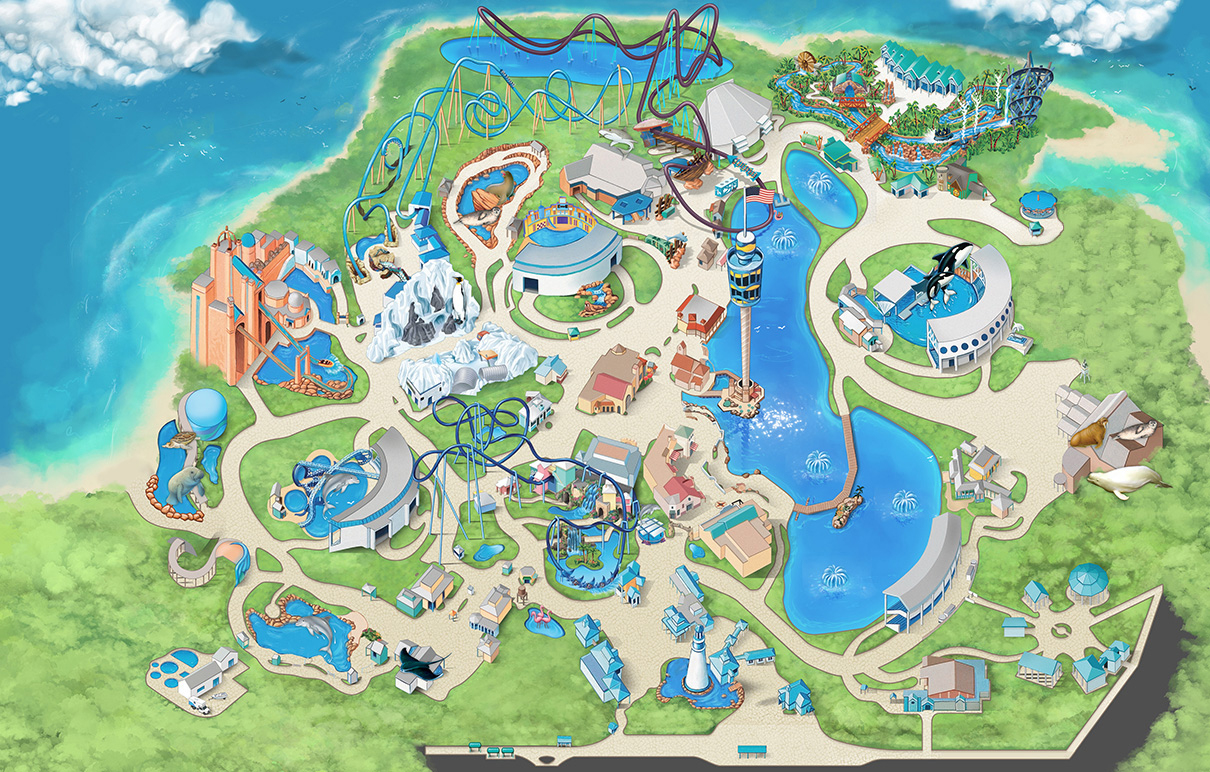 Seaworld Orlando Printable Map   Download Them And Try To Solve - Florida Sea World Map
