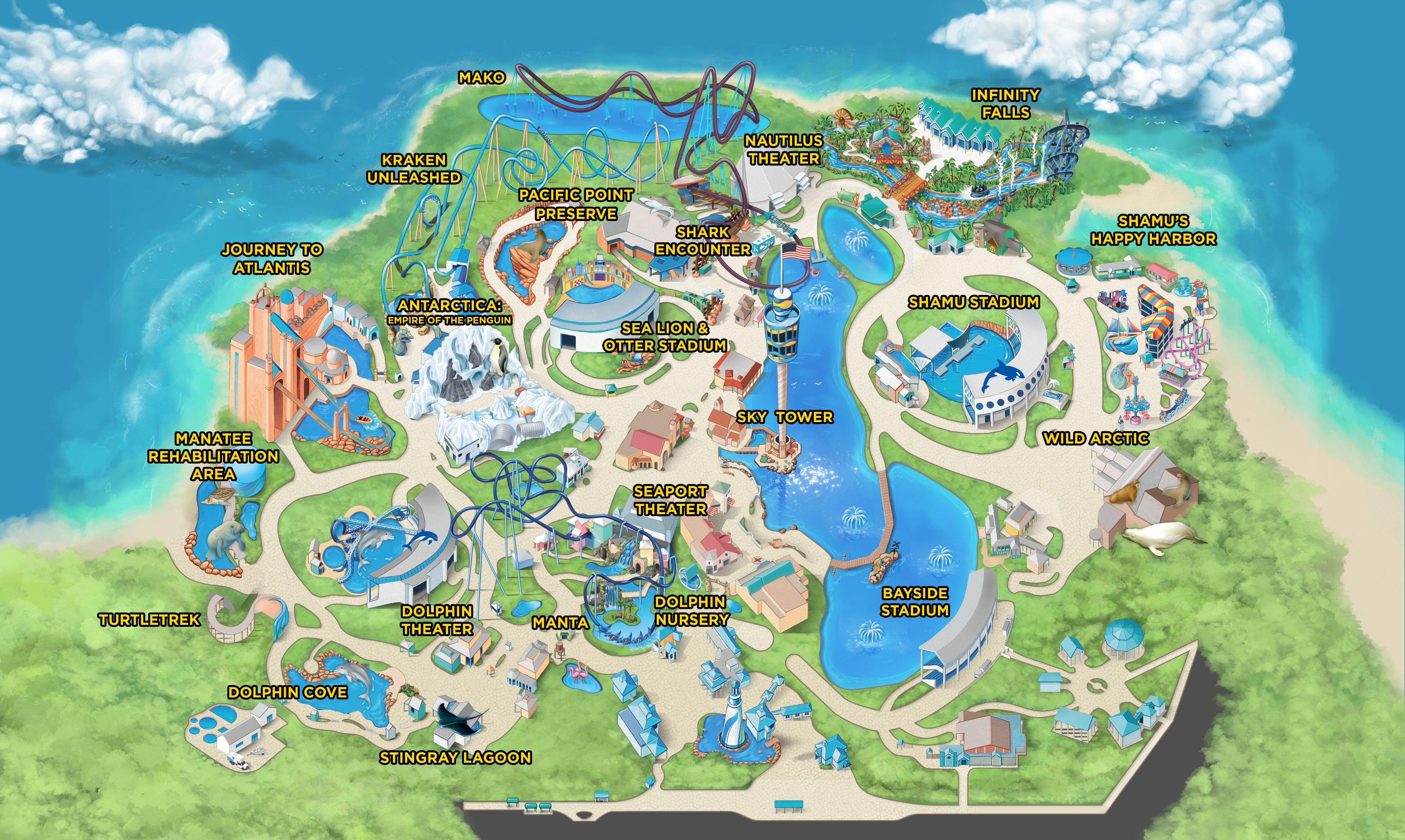 Seaworld Orlando   Seaworld Parks And Entertainment - Florida Sea World Map