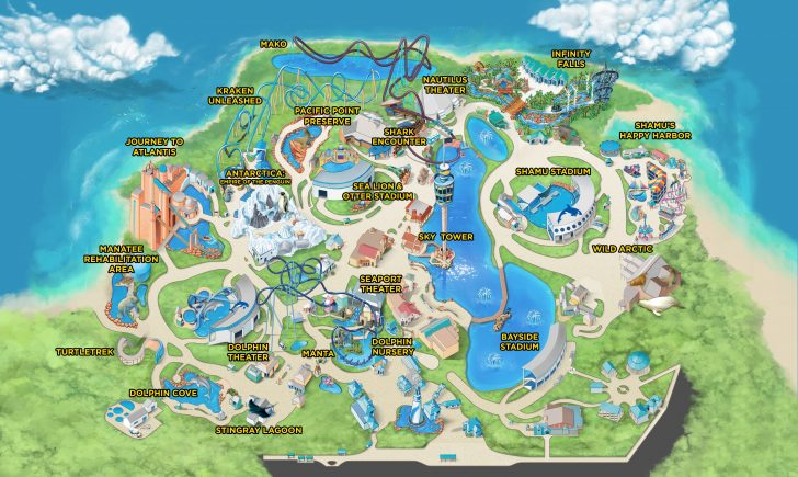 Sea World Florida Map
