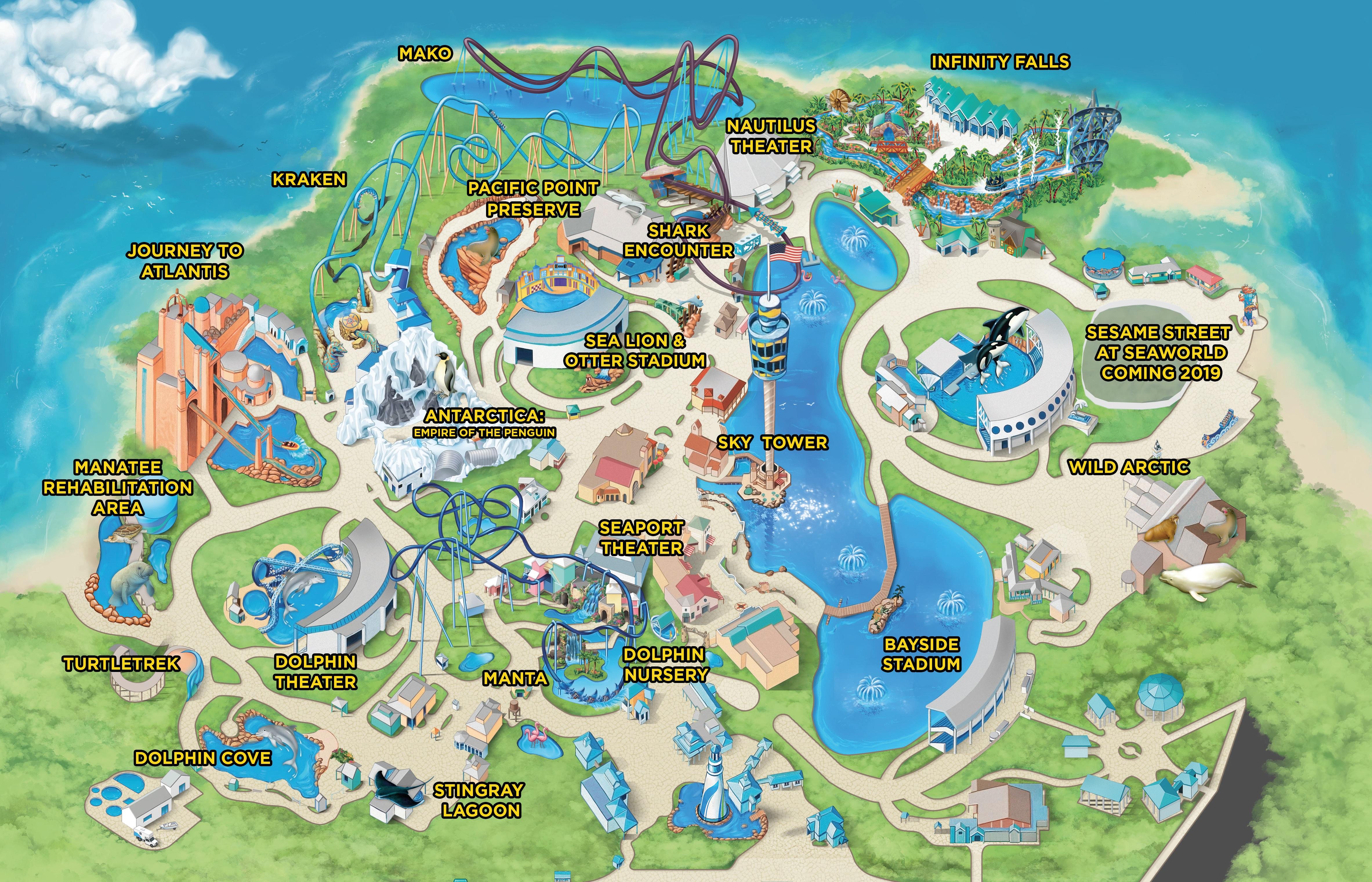 Seaworld Parks & Entertainment | Know Before You Go | Seaworld - Seaworld Map Orlando Florida