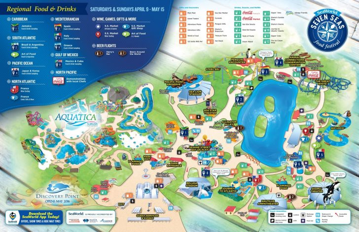Seaworld San Diego Printable Map