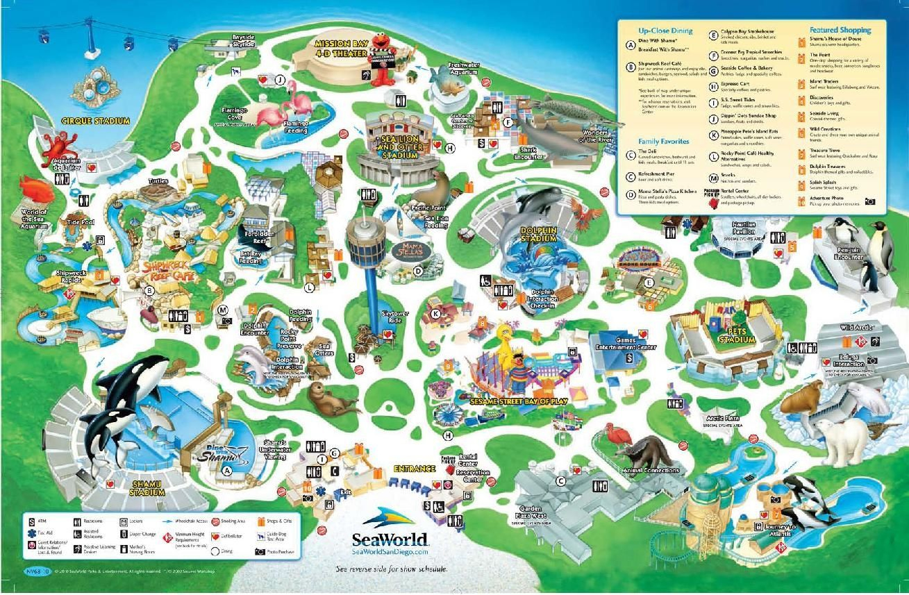Seaworld San Diego Map Printable | Www.topsimages - Printable Map Of Seaworld San Antonio