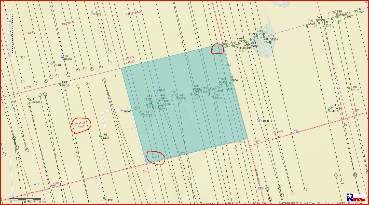 Section 13 Block 33 Township 2N - Howard County, Tx - Mineral Rights - Howard County Texas Section Map