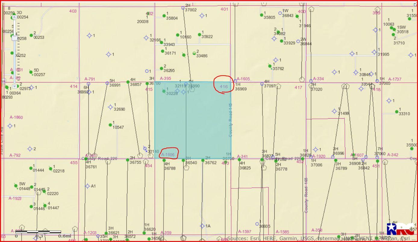 Section 416, Block D, John H Gibson Survey - Yoakum County, Tx - Yoakum County Texas Map