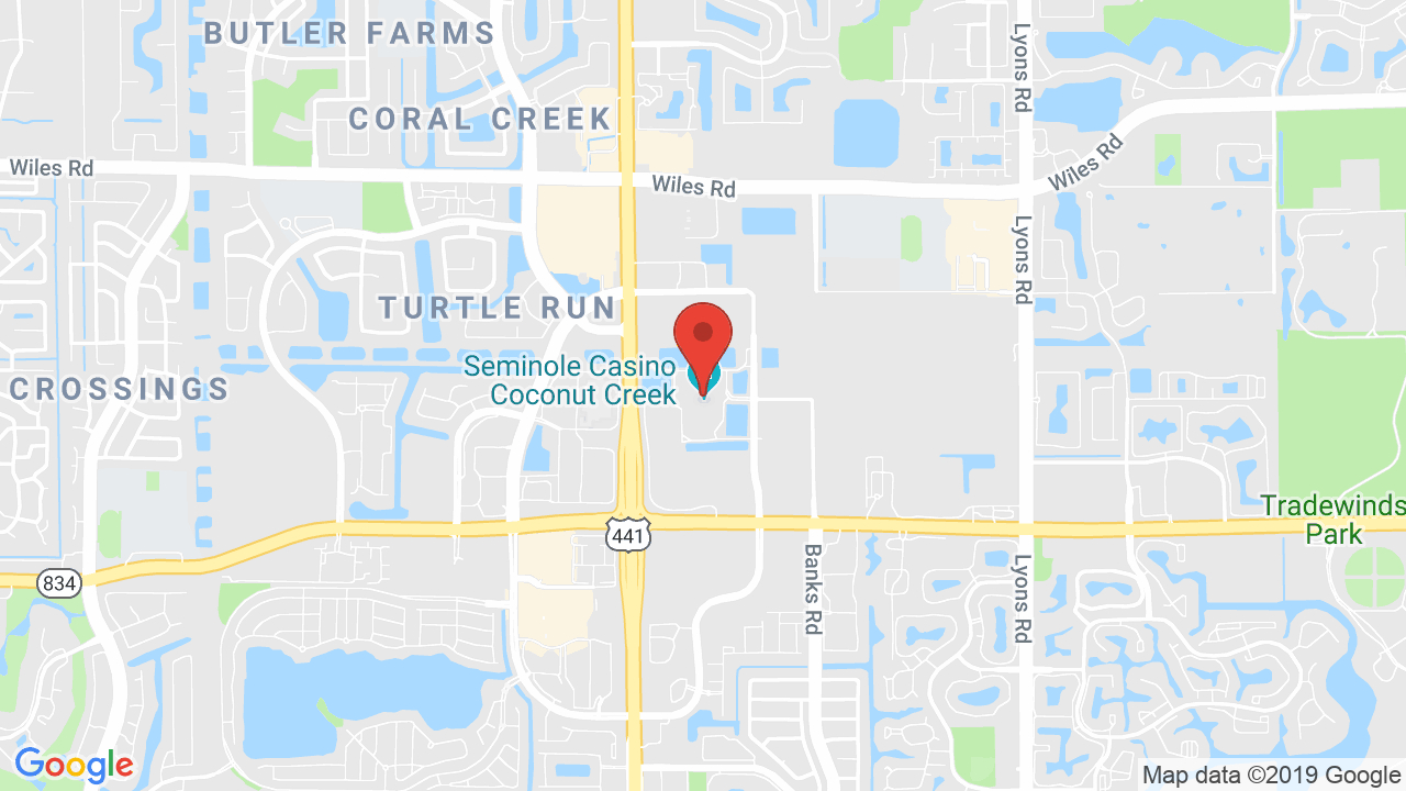 Seminole Casino Coconut Creek - Shows, Tickets, Map, Directions - Map Of Seminole Casinos In Florida