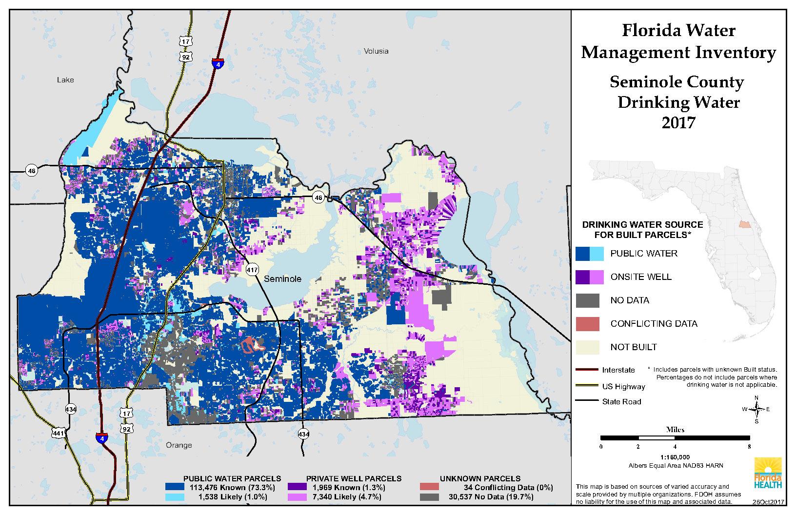 Seminole Florida Water Management Inventory Summary | Florida - Seminole Florida Map