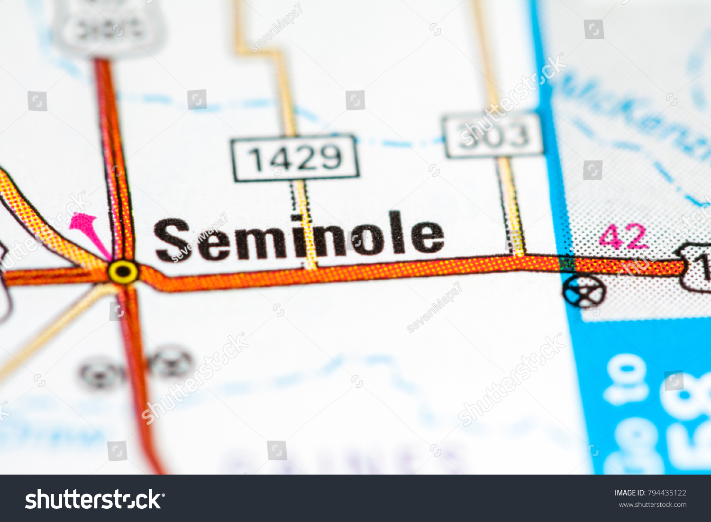 Seminole Texas Usa On Map Stock Photo (Edit Now) 794435122 - Seminole Texas Map