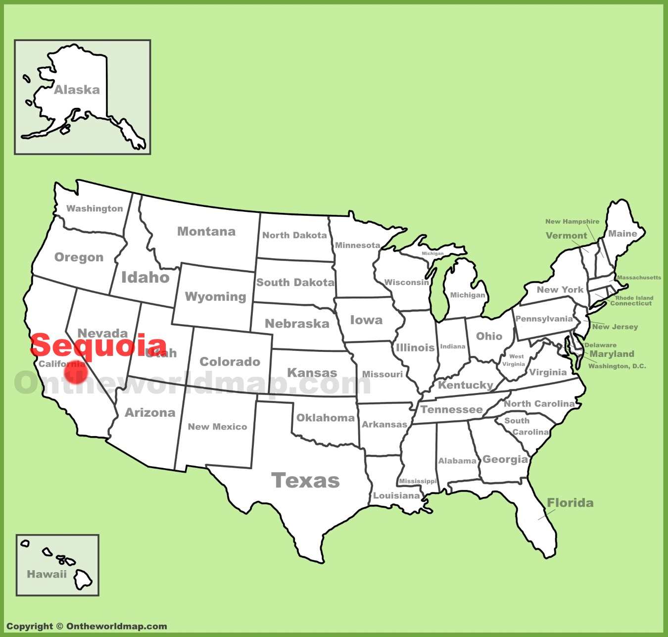Sequoia Location On The Us Map Map New Of Sequoia National Park Map - Sequoias In California Map