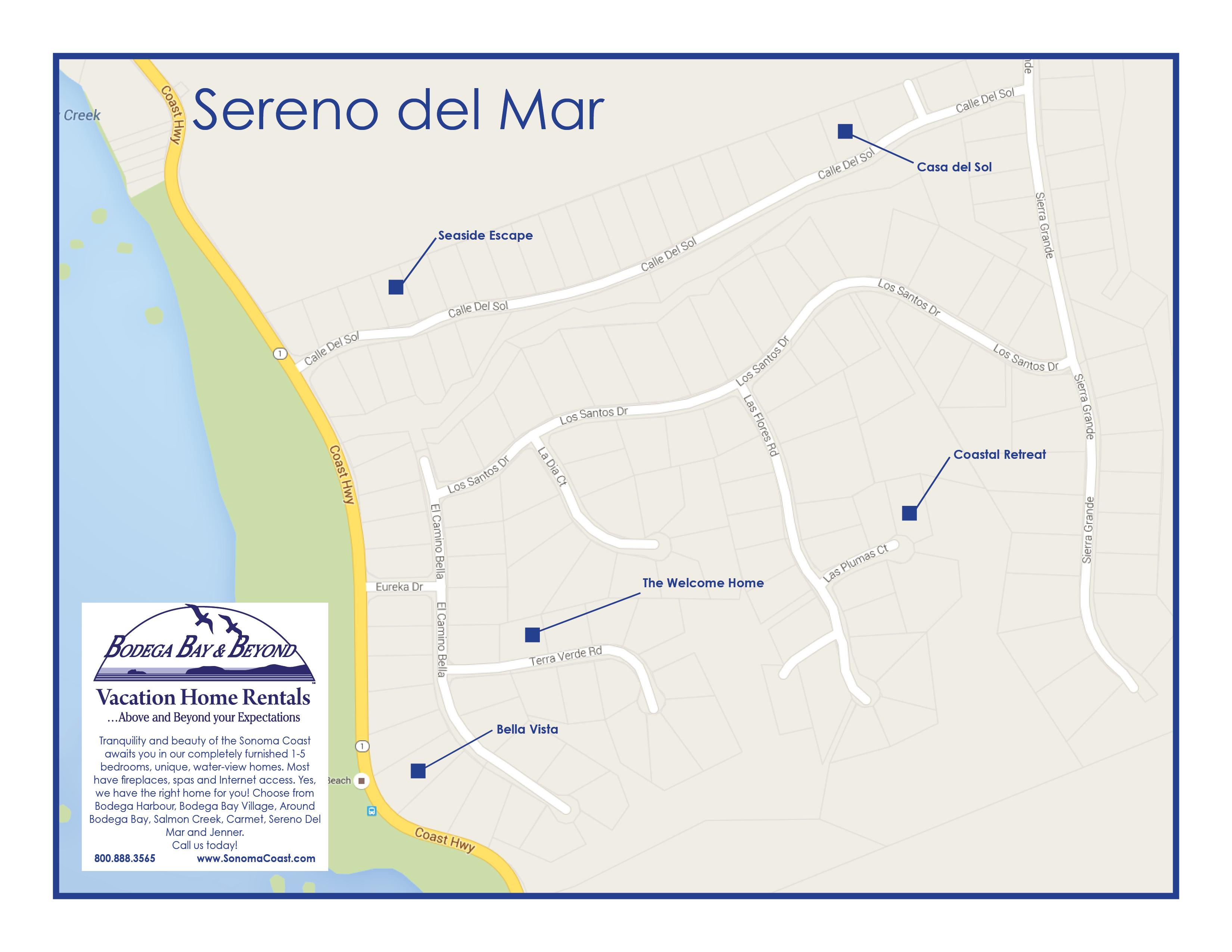 Sereno Del Mar Carmet Vacation Rental Homes - Del Mar California Map