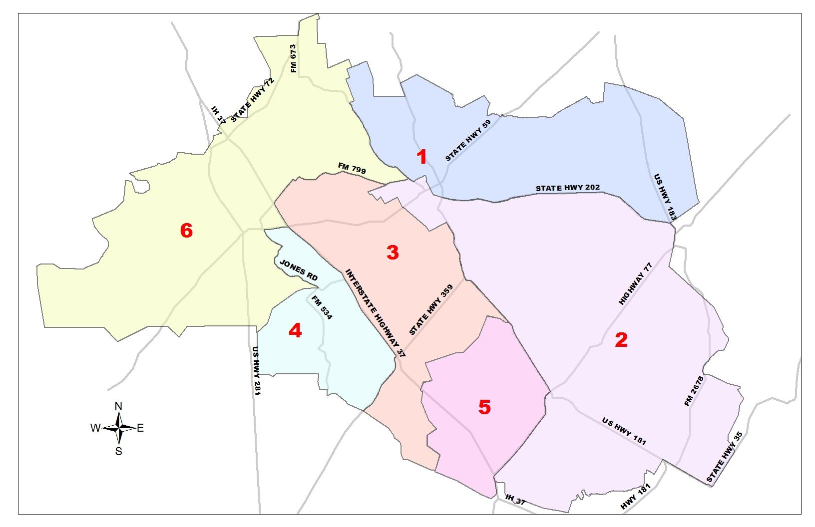 Service Territory | San Patricio Electric Cooperative - Texas Electric Cooperatives Map