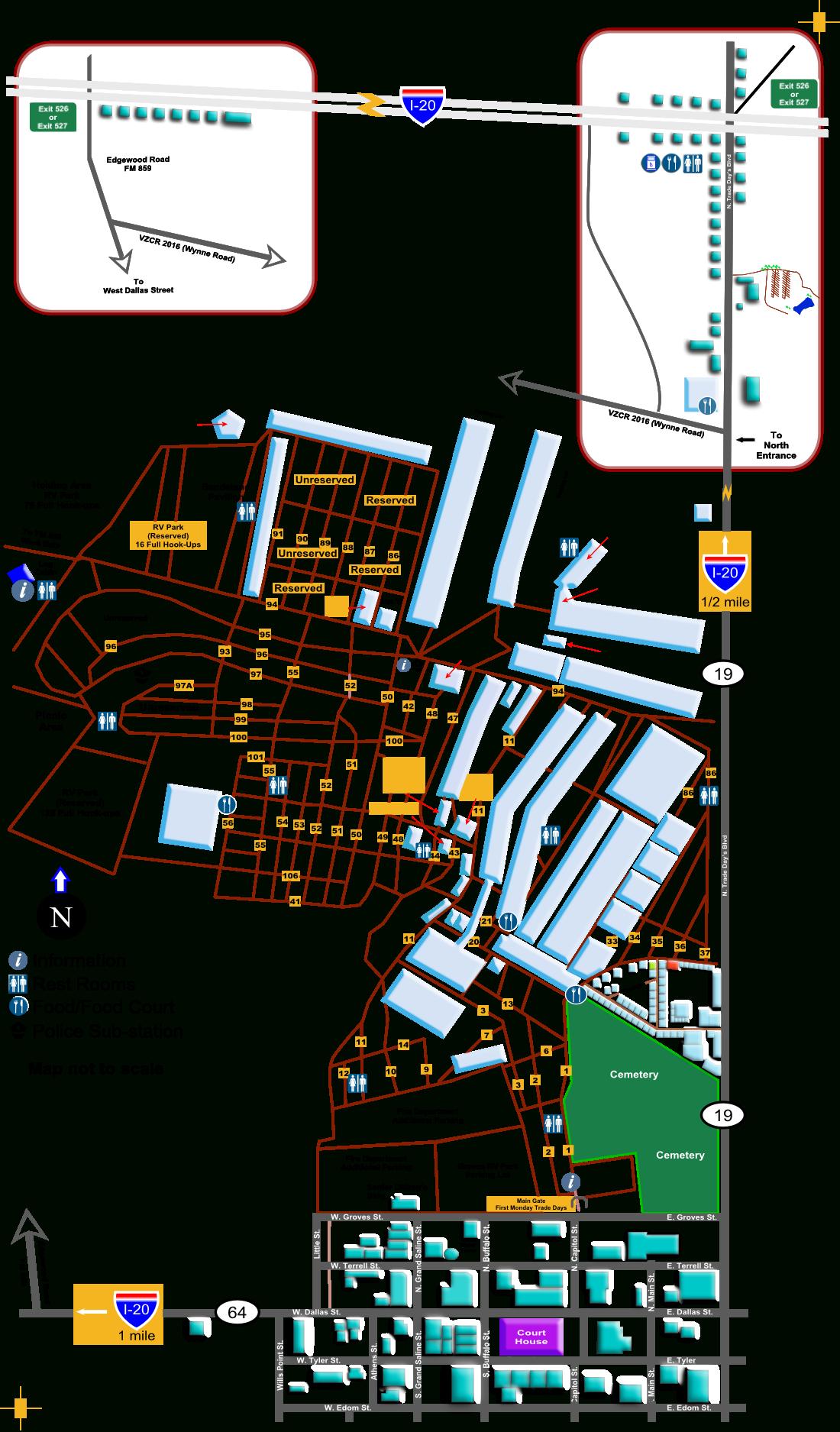 Sfmc | Guide Map - Canton Texas Map Trade Days