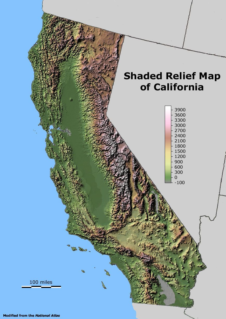 Shaded Relief Map Of California. | Maps I Like | Pinterest | Map - California Relief Map