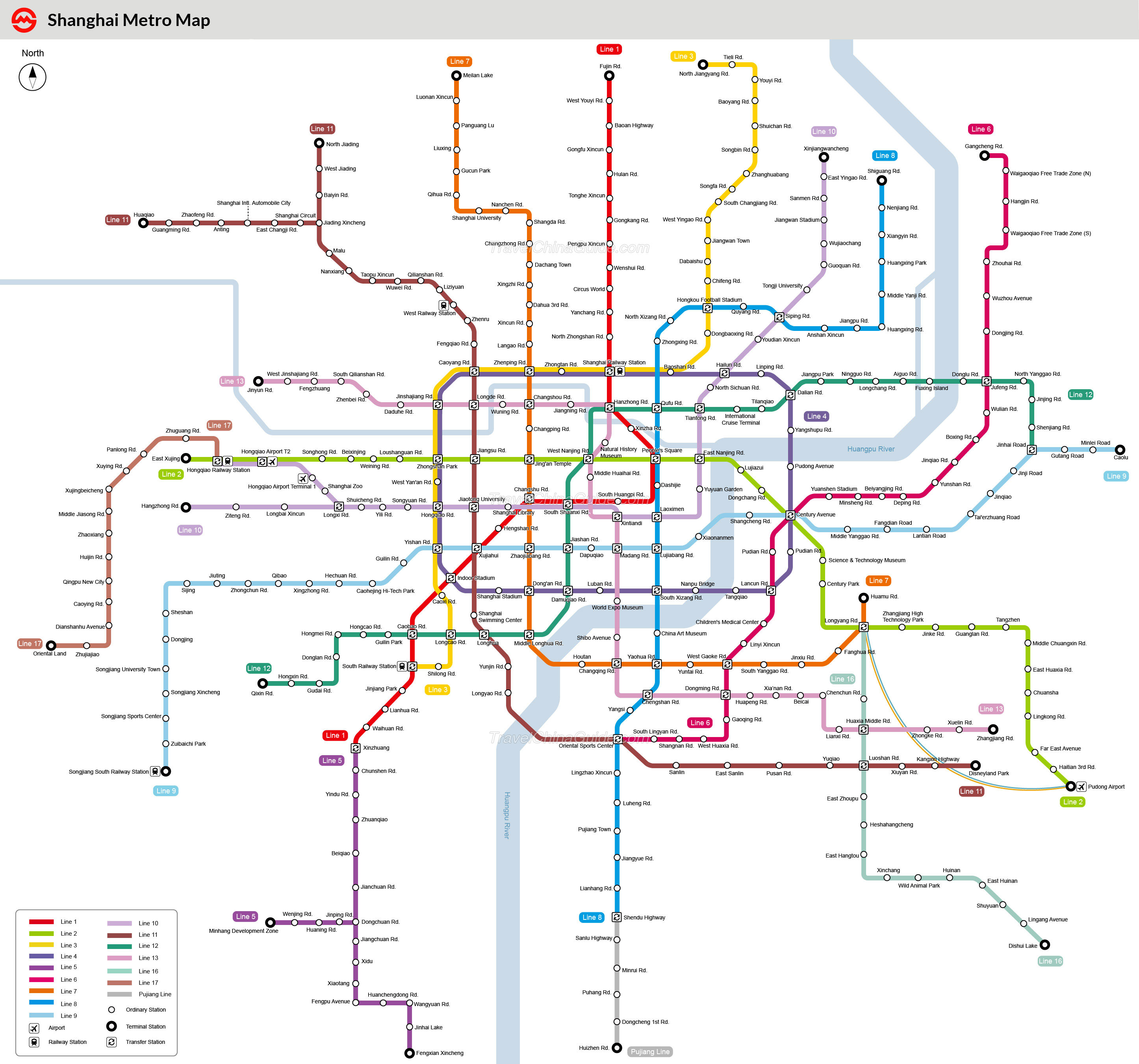 Shanghai Metro Maps, Printable Maps Of Subway, Pdf Download - Printable Subway Map