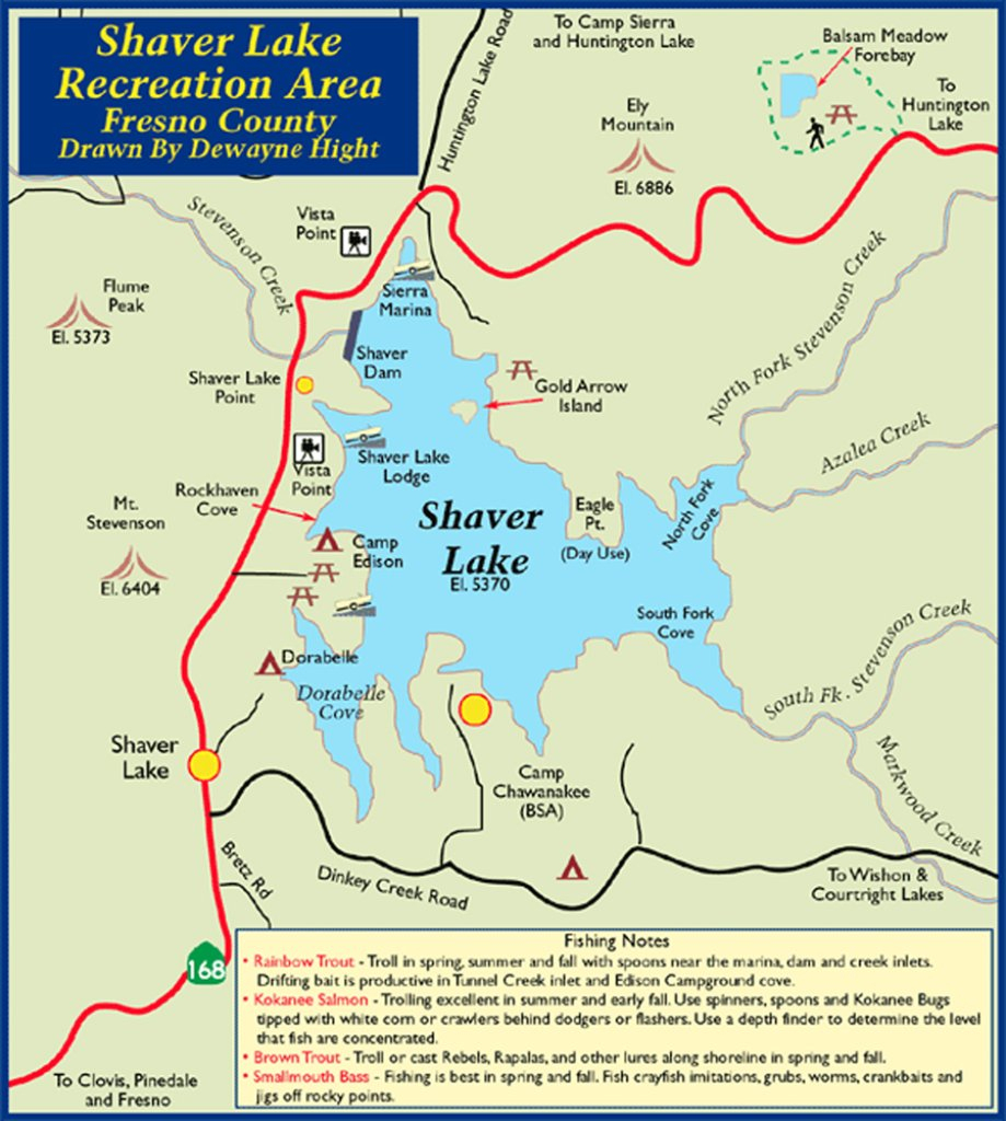 Shaver Lake Recreation Area - Maplets - Shaver Lake California Map